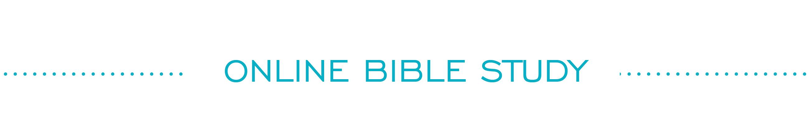 online bible study header image